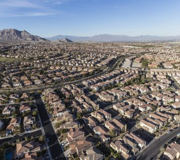 Aerial view of a suburban community in Las Vegas, Nevada
